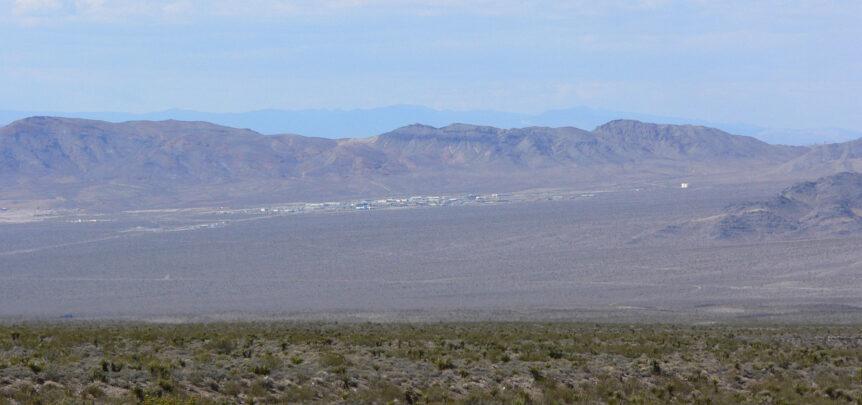 Las Vegas Area 51 tour view of Mercury